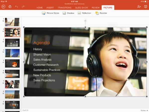 PowerPoint on iPad