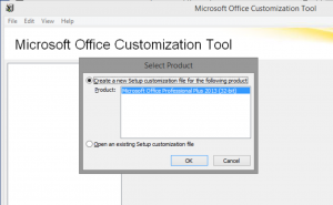 Creating a new Office setup customization file