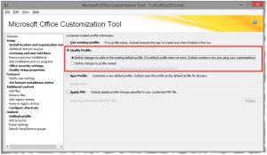 Configure Outlook MAPI profile setup behavior