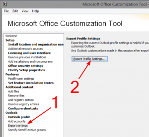 Export PRF file from Customization Tool