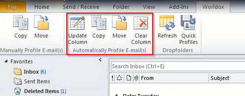 Outlook Buttons