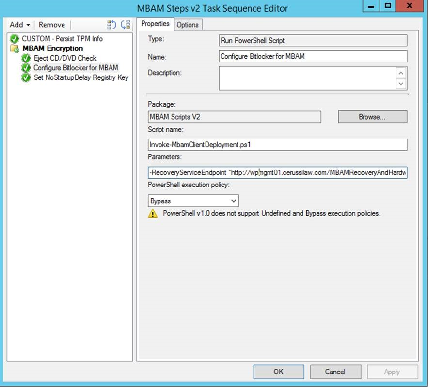 MBAM and Bitlocker Pre-Provisioning During OSD - Kraft