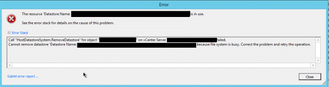 Deleting an Empty Datastore That's in Use in VMware vCenter - Kraft
