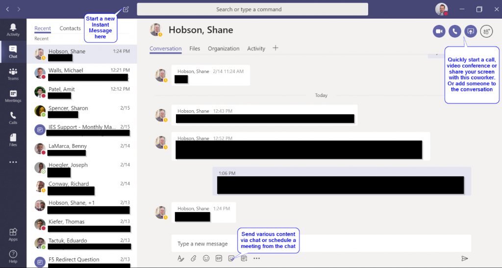 Enhanced Instant Messaging in Microsoft Teams