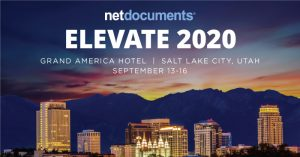 NetDocs Elevate 2020 at Salt Lake City
