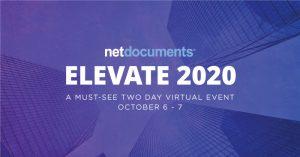 netdocuments elevate 2020