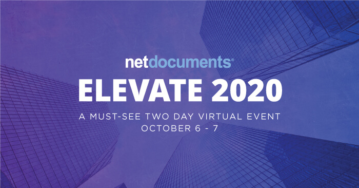 netdocuments elevate 2020