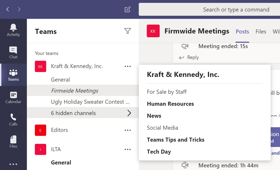 Schedule Meetings in Microsoft Teams