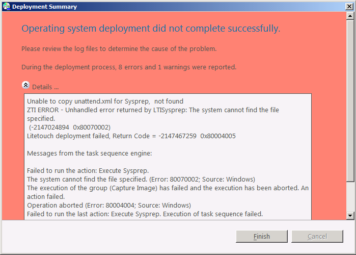 Using The Quot Sysprep And Capture Quot Task Sequence In Mdt 2010